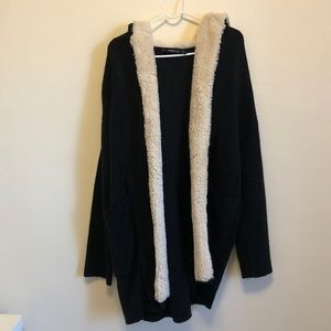 Zara Knit Gray Hooded Sweater